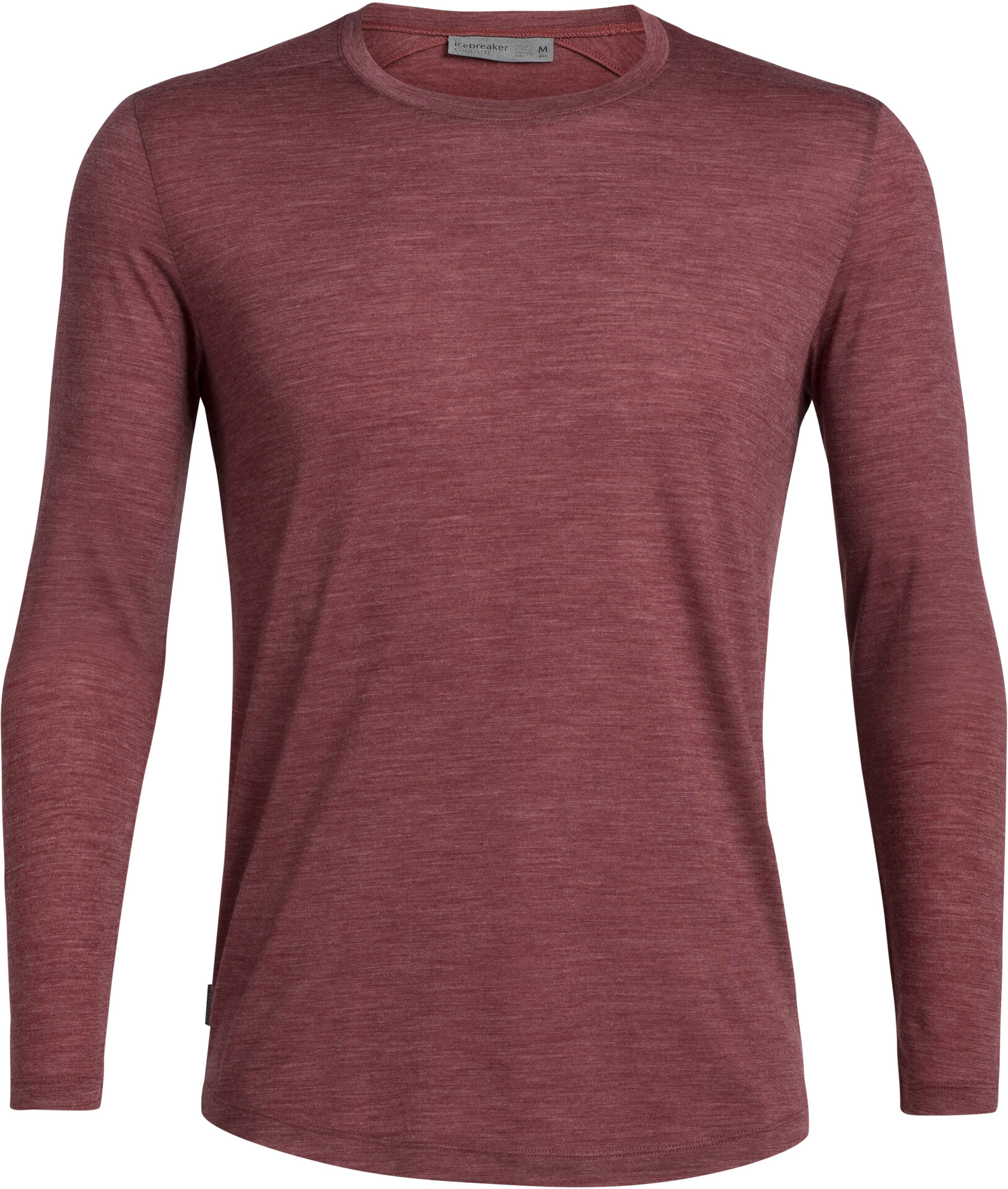 Icebreaker Sphere Langærmet T shirt Herrer, cabernet heather